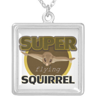 Super Flying Squirrel Silver Plated Necklace