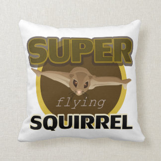 Super Flying Squirrel Throw Pillow
