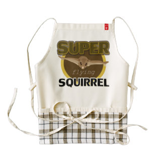 Super Flying Squirrel Zazzle HEART Apron