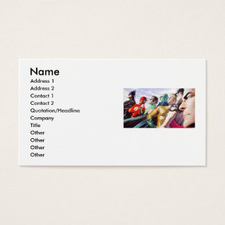 Super Friends, Name, Address 1, Address 2, Cont... Business Card