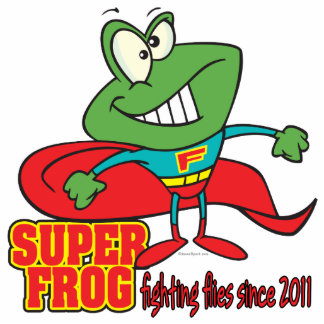 super frog fighting flies since 2011 cut out