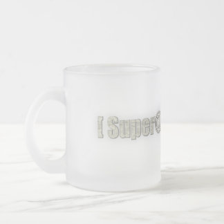 SUPER@ FROSTED GLASS COFFEE MUG