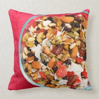 Super Fruit and Nut Mix Throw Pillow