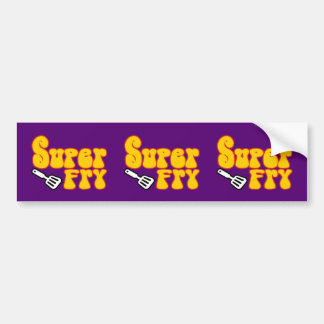 Super Fry (Funny Blaxploitation) Bumper Sticker