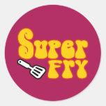 Super Fry (Funny Blaxploitation) Round Stickers