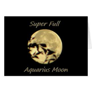 Super Full Moon In Aquarius Card