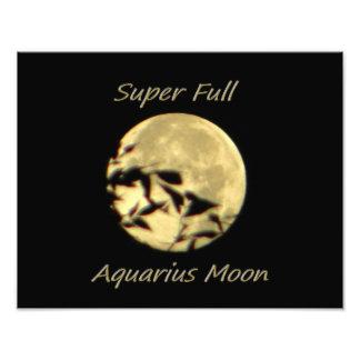 Super Full Moon In Aquarius Photograph