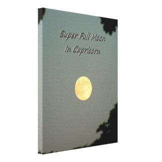 Super Full Moon In Capricorn Canvas Print