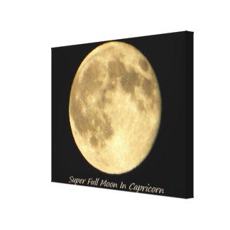 Super Full Moon In Capricorn II Canvas Prints