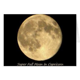 Super Full Moon In Capricorn II Card