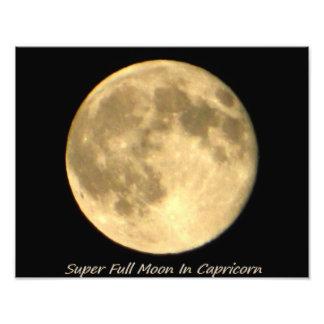 Super Full Moon In Capricorn II Photographic Print