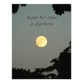 Super Full Moon In Capricorn Photo