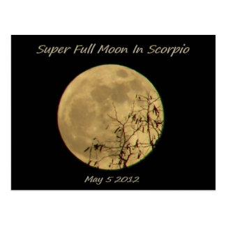 Super Full Moon In Scorpio Postcard
