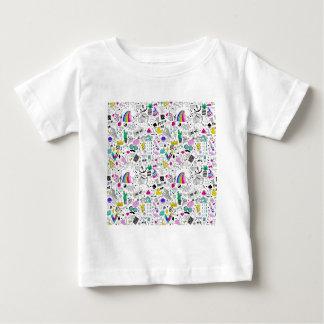 Super Fun Black White Rainbow 80s Sketch Cartoon Baby T-Shirt