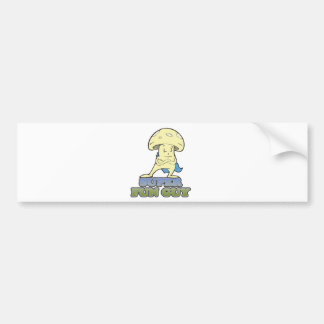 super fun guy fungi mushroom bumper stickers