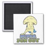 super fun guy fungi mushroom refrigerator magnet