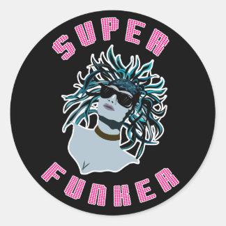 Super Funker Classic Round Sticker