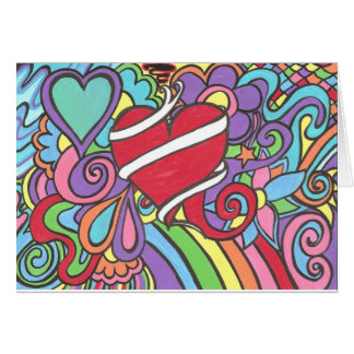 Super Funky Love Tattoo Heart Valentines Day Card
