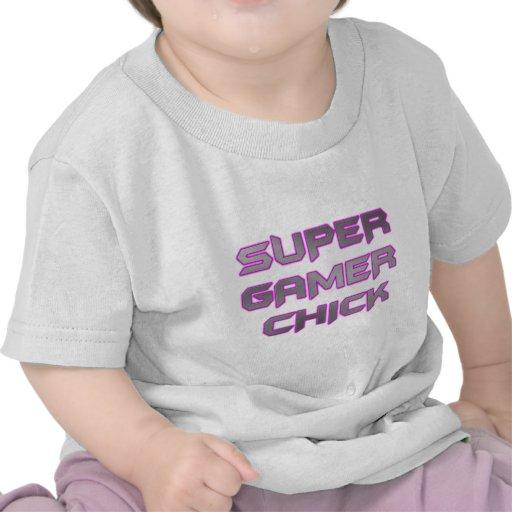 SUPER GAMER CHICK T SHIRTS