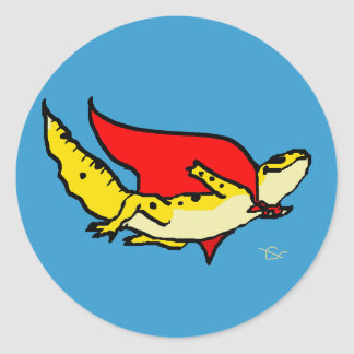 Super Gecko Classic Round Sticker