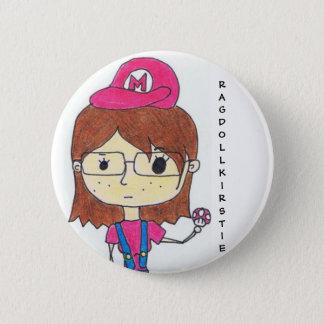 Super Geek Girl Pinback Button
