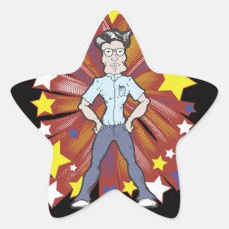 Super Geek Star Sticker