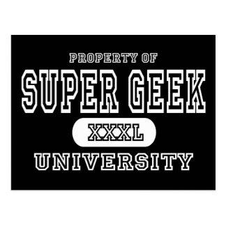 Super Geek University Dark Postcard