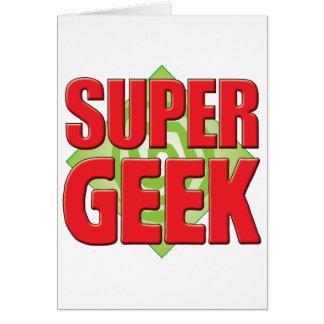 Super Geek v2 Greeting Cards