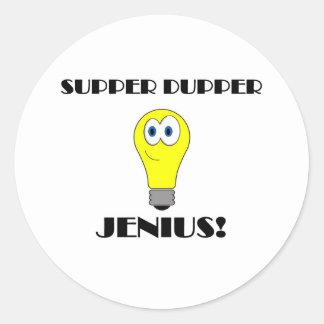 Super Genious Round Stickers