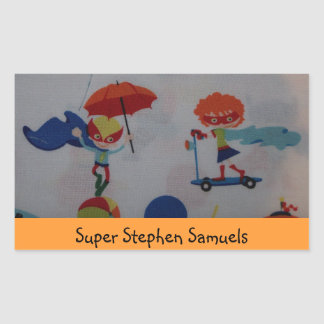 Super Girl and Boy This Book Belongs to Sticker