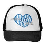super girl heart hat