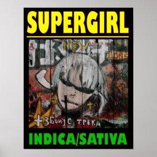 SUPER GIRL INDICA SATIVA POSTER