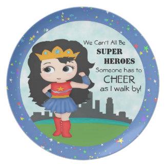 Super Girl Plate
