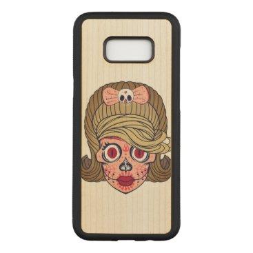 Halloween Themed Super Girly Sugar Skull Carved Samsung Galaxy S8  Case