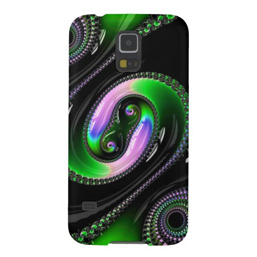 Super Glossy Black  pattern Fractal GalaxyS5 Case Cases For Galaxy S5