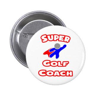 Super Golf Coach 2 Inch Round Button