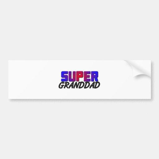 Super Granddad Car Bumper Sticker