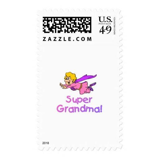 Super Grandma (Flying) Postage Stamp
