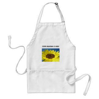 Super Grandma is Here! apron Holidays Sunflower