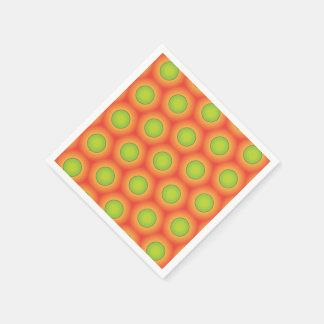 Super green and orange pattern paper napkins