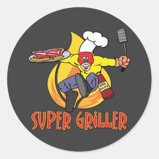 Super Griller Round Sticker
