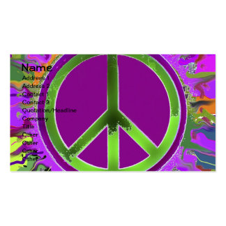 SUPER Groovy Peace Sign Business Cards