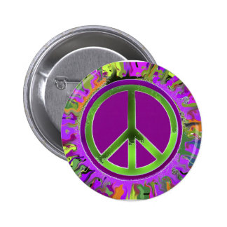 SUPER Groovy Peace Sign Buttons