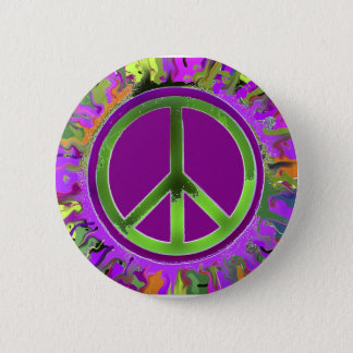 SUPER Groovy Peace Sign Pinback Button