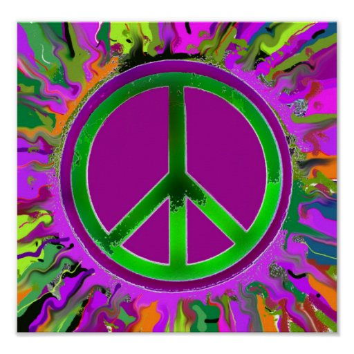 SUPER Groovy Peace Sign Print