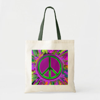 SUPER Groovy Peace Sign Tote Bag