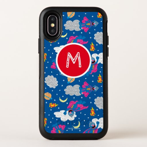 Super Grover 2.0 Night Sky Pattern OtterBox Symmetry iPhone X Case