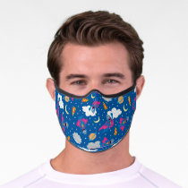 Super Grover 2.0 Night Sky Pattern Premium Face Mask
