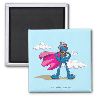 Super Grover 2 Inch Square Magnet
