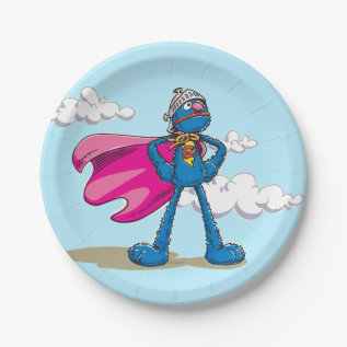 Super Grover 2 Paper Plate at Zazzle